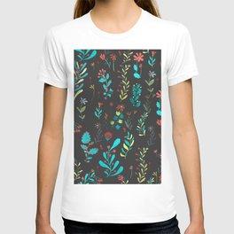 Plants in black T-shirt
