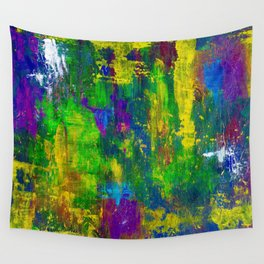 """""""Purple Swamp"""" Abstract Acrylic Painting by Noora Elkoussy Wall Tapestry"""