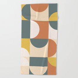 Mid Century Modern Geometric 23 Beach Towel