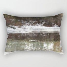 Icy Reflections Rectangular Pillow
