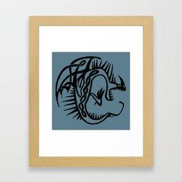 Celtic Knotwork Deadly Nadder (Black) Framed Art Print