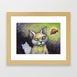 Unlikely friends Framed Art Print