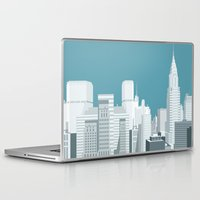manhattan Laptop & iPad Skins featuring Manhattan by mauromod