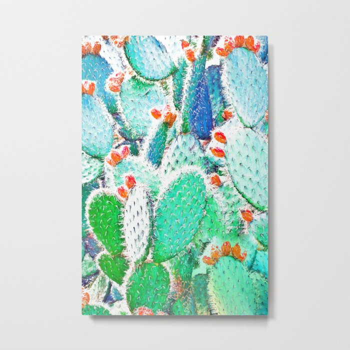 Painted Cactus #society6 #decor #buyart Metal Print