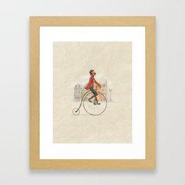 Old cycling Framed Art Print