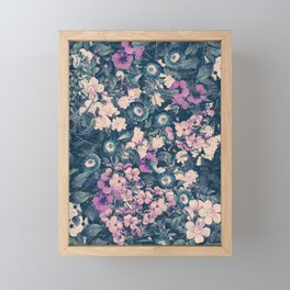 Floral Nights Space Dreams Framed Mini Art Print