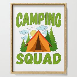 Camping Squad Serving Tray