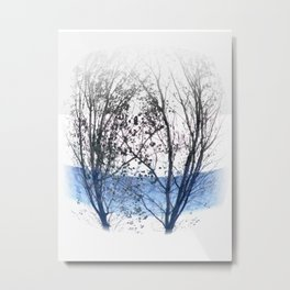Nature Couple Metal Print