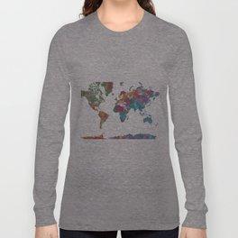World Map - Watercolor 3 Long Sleeve T-shirt