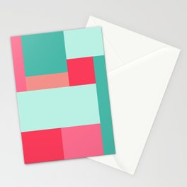 Geometry I (squares) Stationery Cards