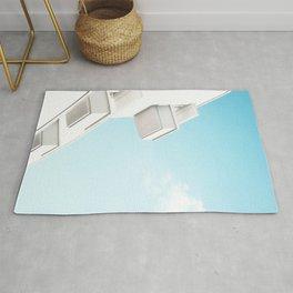 Minimal White Balcony Dream #1 #wall #decor #art #society6 Rug