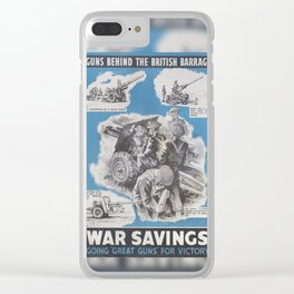 Reprint of British wartime poster. Clear iPhone Case