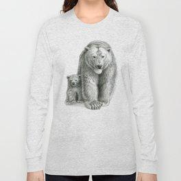 Polar bear and cub SK041 Long Sleeve T-shirt