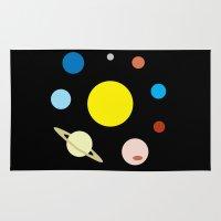 solar system Area & Throw Rugs featuring Solar System by fairandbright
