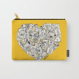 Camera Heart - on yellow Carry-All Pouch