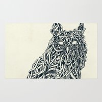 owl Area & Throw Rugs featuring Owl by Mike Koubou