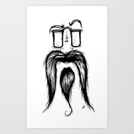 Blackie Beardy Face Art Print