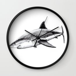 Great white shark (Carcharodon carcharias) Wall Clock