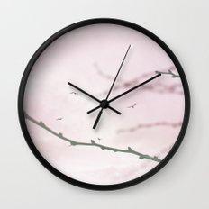 Pastel Winter Sky  Wall Clock
