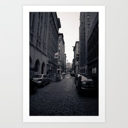 Cobble Stone Street In NYC Art Print