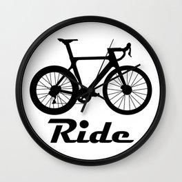 Road Bike Logo Wall Clock