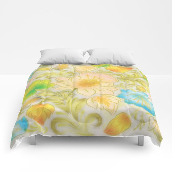 Shabby flowers #8 Comforters
