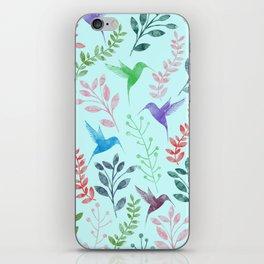 Watercolor Floral & Birds III iPhone Skin