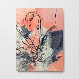 Perennial: abstract floral painting by Alyssa Hamilton Art Metal Print