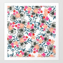 Tiny Floral Art Print