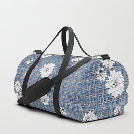 denim Dahlia Duffle Bag