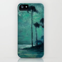 Tropical Nocturnal Landscape with Palms by Charles Warren Eaton iPhone Case