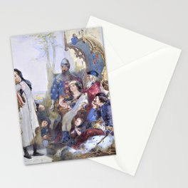 12,000pixel-500dpi - Madox Brown - Chaucer at the Court of Edward III 1854 - Digital Remastered Stationery Cards