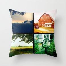 Summer on my parents' farm. Throw Pillow