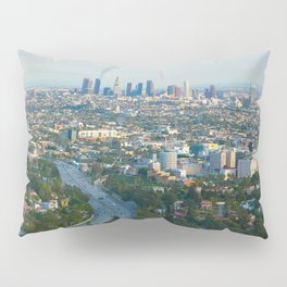 Los Angeles Skyline and Los Angeles Basin Panorama Pillow Sham
