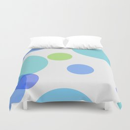 Blue Circles Duvet Cover