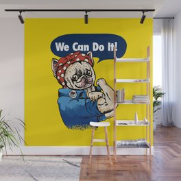 We Can Do It French Bulldog Wall Mural