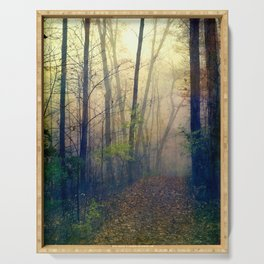 Wandering in a Foggy Woodland Serving Tray