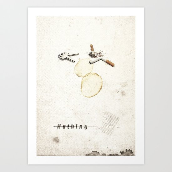Nothing (...) | Collage Art Print