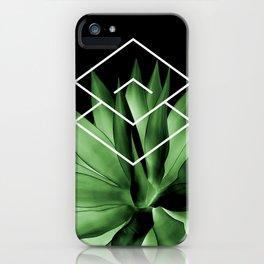 Agave geometrics III iPhone Case