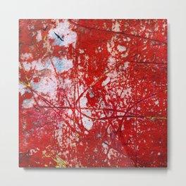 Red Texture Metal Print