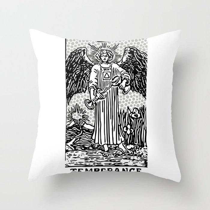 Modern Tarot Design - 14 Temperance Throw Pillow