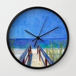 Fun at the Beach Wall Clock