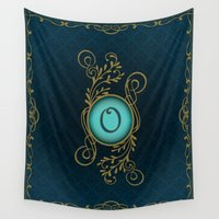 monogram Wall Tapestries featuring Monogram O by Britta Glodde