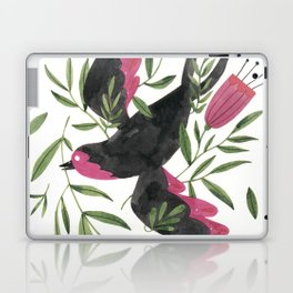 Swallow with Flowers Laptop & iPad Skin