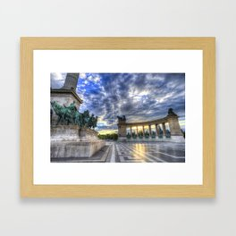 Heroes Square Budapest Sunrise Framed Art Print