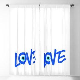 LOVE Greek Eye Design Blackout Curtain