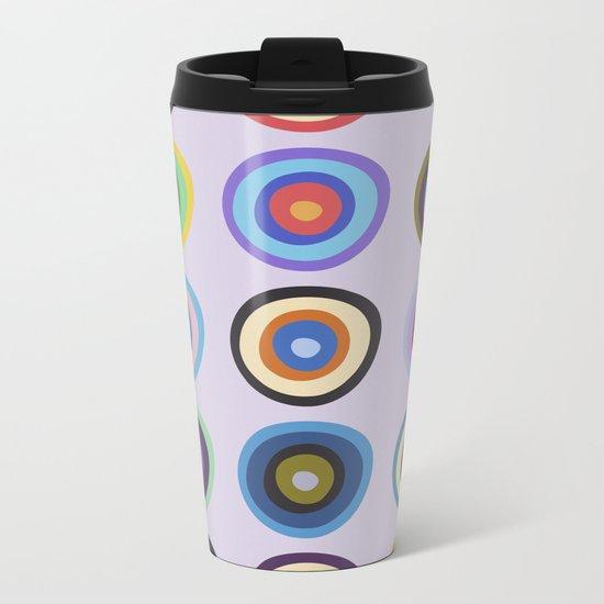 Colorful Circles VI Metal Travel Mug