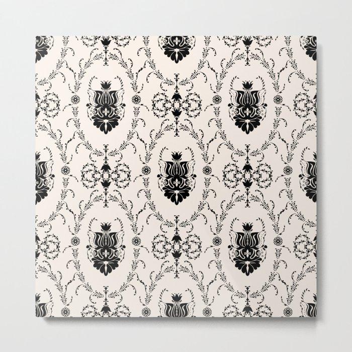 Seamless wallpaper background floral vintage Metal Print