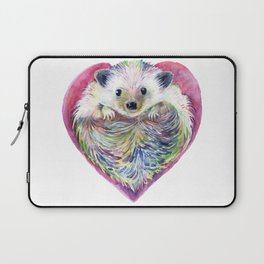 HedgeHog Heart by Michelle Scott of dotsofpaint studios Laptop Sleeve
