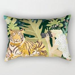 Tiger Sighting Rectangular Pillow